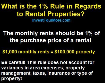 1 % rule and rentals