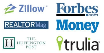 Featured on Zillow, Forbes, RealtorMag, Money, HuffingtonPost, and Trulia.