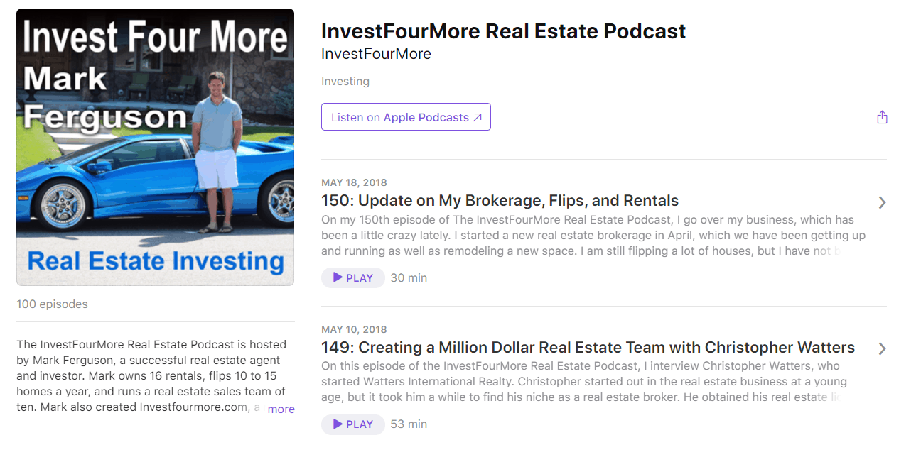 InvestFourMore Insider Podcast Apple