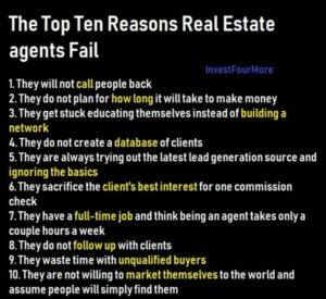 real estate agents fail