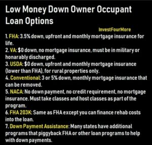 low down payment loans