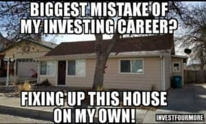 fixing up a house on your own