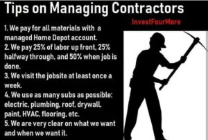 Manage contractors