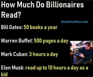 billionaires and reading