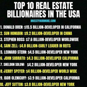 top 10 real estate billionaires
