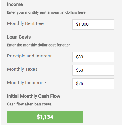Rental Property Cash Flow Calculator - Invest Four More