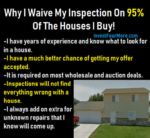 waive home inspection